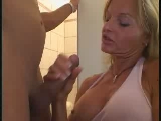 Blonde Handjob Mature Mom Old and Young