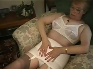 Granny Just about Glasses Shows Off Her Boobs