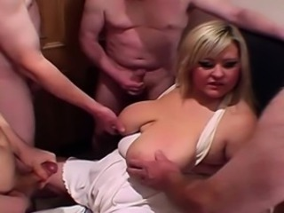 Chubby and fat mediocre cumshot compilation
