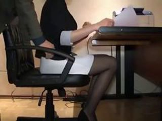 HiddenCam Office Secretary Stockings Voyeur