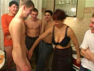 Gorge oneself boy fucks his friend's mom with fellows