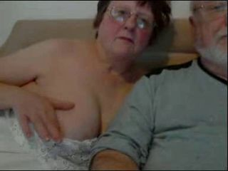 Mature couple Brian and wife from Liverpool play on webcam.