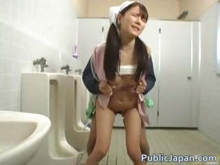 Asian Clothed Hardcore Japanese  Public Toilet