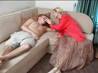 Blonde Mature Mom Old and Young Russian