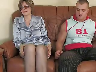 Glasses Mature Mom Old and Young Russian Teacher