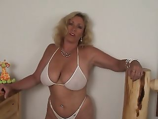 Amateur Amazing Big Tits Bikini Blonde  Piercing Panty Wife