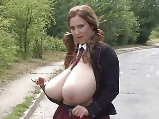 Amateur Big Tits  Outdoor Pigtail Public