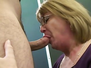 Blonde Blowjob Glasses Mature