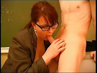 Blowjob Glasses  Redhead Russian School Teacher