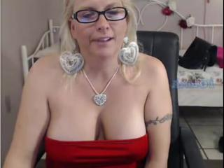 Blonde Glasses Mature Natural Tattoo Webcam