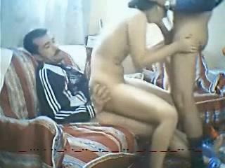 Egyptian bitch fuck between two hard up persons