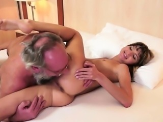 Glamour girl cum on asshole