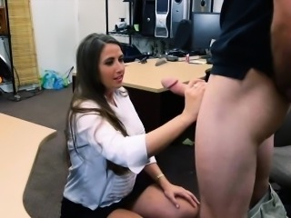 Bubble butt babe pawns twat and pounded less the backroom