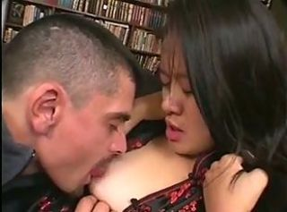 Asian Babe Brunette Cute Licking Small Tits