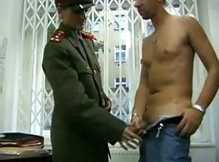 Amateur Army Handjob  Uniform