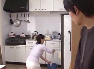 Asian Kitchen Mature Mom Old and Young Voyeur