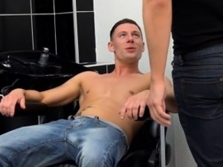 Uk hairdresser anally fucks client before cumshot