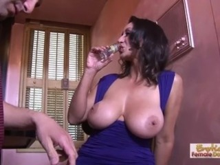 Amazing Big Tits Brunette Drunk Mature Natural