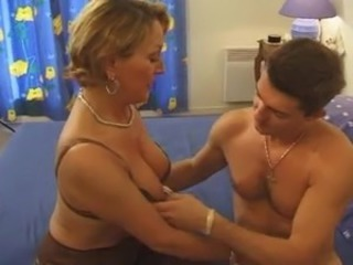 Blonde European French Mature Mom Old and Young