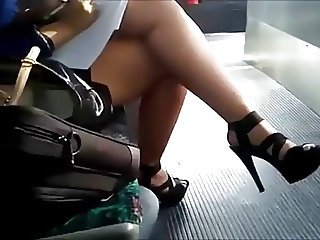 Sexy Legs and Heels on Bus