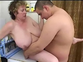 Mature Russian seduces heavy boy
