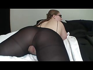 Hot Lady In Glasses Shows Off Her Great Arse