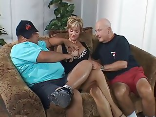 Blonde  Pornstar Threesome Wife