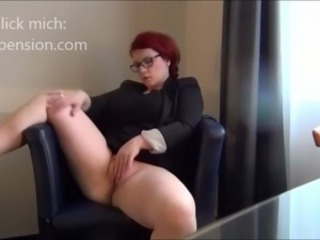 Amateur Chubby Glasses Homemade Masturbating  Redhead