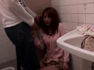 Hot Korean honey has the  inside A Uni porn Toilets