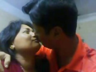 Amateur Homemade Indian Kissing Wife