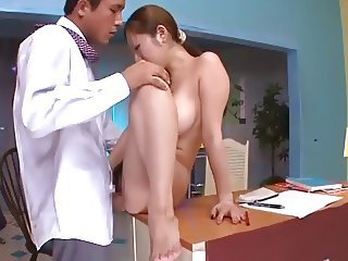 horny chick banged at office