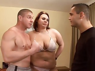 Chubby Lingerie  Natural Threesome