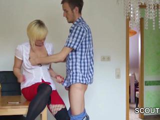 "German milf seduce to Fuck away from 18yr old not Step-Son"" class=""th-mov"