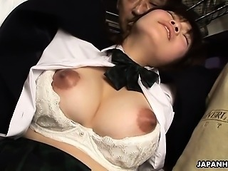 Asian Babe Bus Japanese Nipples Student