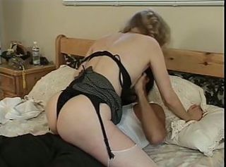 Blonde MILF in despondent insidious lingerie gets fucked