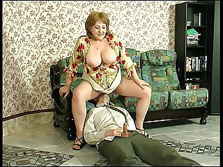 Big Tits Clothed Facesitting Licking Mature Mom Natural Old and Young