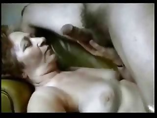 Granny having fun with horny student. Amateur