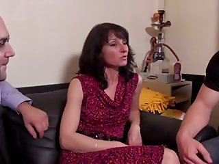 European French  Threesome Wife