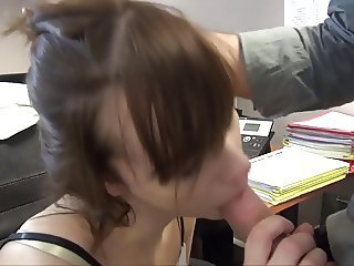 Cute French fucked in the matter of the office
