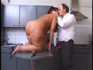 Ass Chubby Kissing Kitchen Mature Older