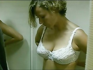 German Be conducive to Removes Her Bra