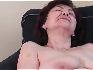 Busty Granny Masturbating