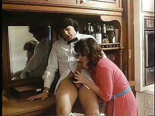 Blowjob Brunette Clothed  Vintage Wife