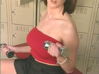 "Sexy busty slut plays yon toys and dildo fucks"" class=""th-mov"