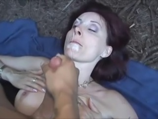 Cumshot Facial Mature Mom Outdoor