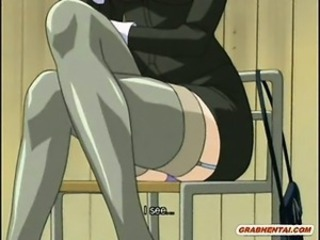 Roped hentai cutie sucking and fucking bigcock wide the teacher