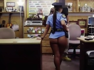 Police ungentlemanly shows her sexy ass