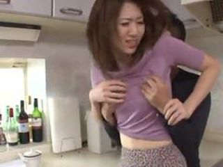 Akari Hoshino touches the rod Plus has Fingered inside t...