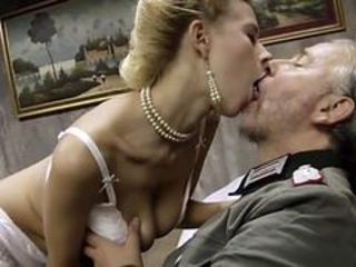 Army Blonde Daddy European Italian Kissing  Pornstar Vintage