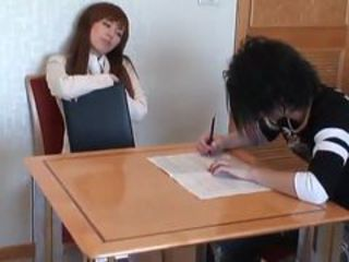 Dissolute Japanese Teacher touches And fucks Her Studen...